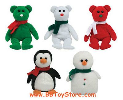 TY Jingle Beanie Babies - Holiday 2007 set of 5 (Walgreens Exclusives) - MWMT's