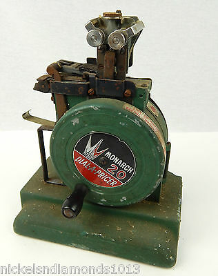 Vintage Monarch 20 Dial-A-Pricer Price Marking Machine Labeler Green
