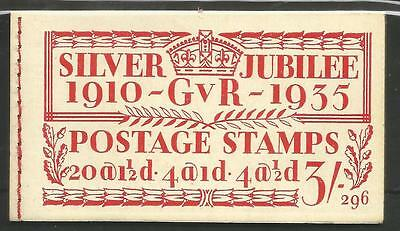 The 1935 Gv 1910-35 Gv 3/- Silver Jubilee Booklet No 296 Cat £90