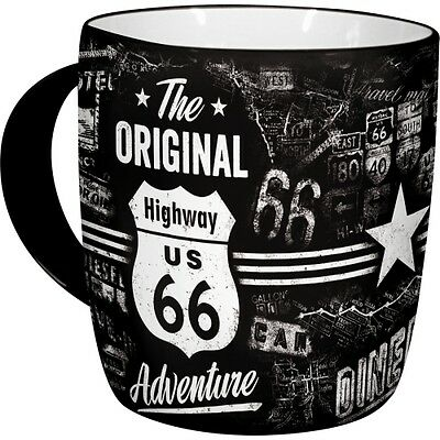Kaffeetasse Highway 66 US Adventure Becher,Souvenir Tasse,330 ml.,coffee mug