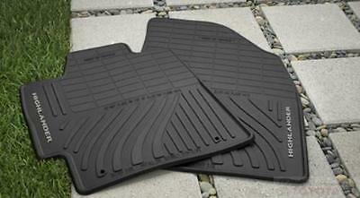 Toyota Highlander 2008-2013 Oem All Weather New Floor Mats Pt908-48G00-02