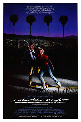 INTO the night MOVIE poster PFEIFFER & GOLDBLUM dangerous romance hot 24X36