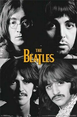 THE BEATLES POSTER Amazing White Background Shot RARE HOT NEW 22x34