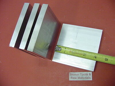 "6 Pieces 1/2"" X 4"" ALUMINUM 6061 T6511 SOLID FLAT BAR 4"" long Plate Mill Stock"