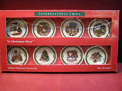 Set of (8) International China A Christmas Story Ornaments
