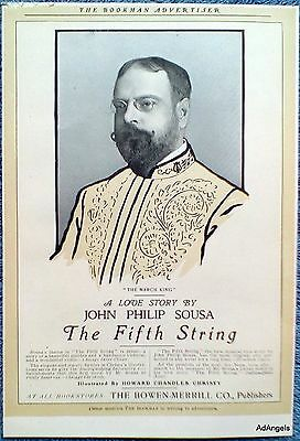 1902 The March King A Love Story By John Philip Sousa The Fifth String ad