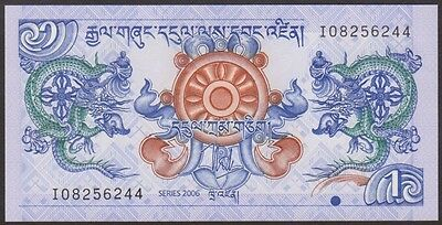 BHUTAN  - 1  NGULTRUM  2006    P 27a  LOT 2 PCS  Uncirculated Banknotes