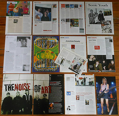 SONIC YOUTH clippings lot magazine photos dated articles cuttings