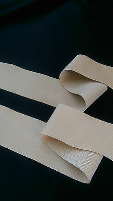 "2"" x 80""  Girls Champagne, Beige, Pale gold Rayon Grosgrain sash belt"