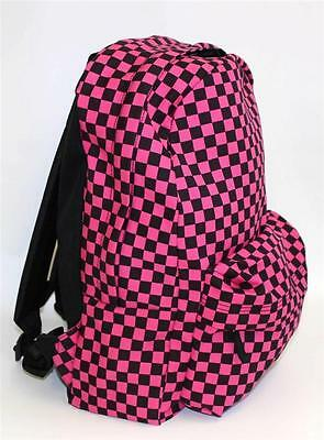 a68ee835e20f Vans Off The Wall Checkered RTL Pink Black 100% Cotton Backpack Bookbag New  NWT