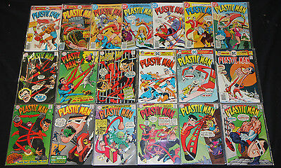 VINTAGE DC SILVER BRONZE PLASTIC MAN COMICS LOT 19pc #1-5, 7-10-20 8.0-9.2