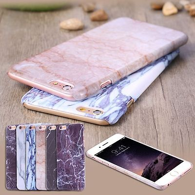 Granite Marble Contrast Color PC Hard Phone Cover Case for iPhone 8 6S 7 Plus SE
