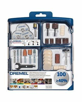 Dremel 723 Multi Rotary Tool Accessory Set 100 Piece In Storage Case