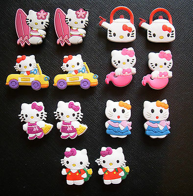 2 x Hello Kitty Croc Shoe Charms Jibbitz Choose From 7 Designs Crocs