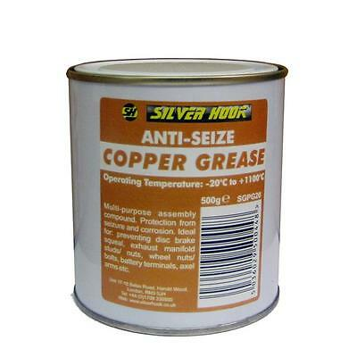 2 Silverhook Copper Grease 500g Tub High Temp Anti-Seize Assembly Compound......