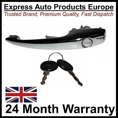 Chrome Door Handle Left or Right & Keys replaces VW 113837205M