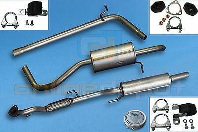 Full exhaust from CAT VW POLO IV 9N3 Hatchback 1.2i 05-09
