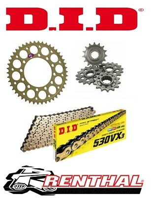 Renthal / DID Chain & Sprocket Kit to fit Yamaha YZF R1 1998-2003