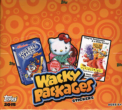 2015 Topps Wacky Packages Trading Card Stickers Hobby Box