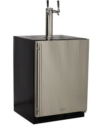 Marvel Built-In Kegerator X-CLUSIVE 2-Tap Direct Draw Kit Black/Stainless Steel