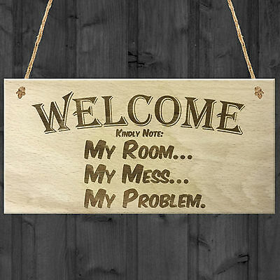 Funny Quote Bedroom Plaque Sign Gifts Present Sarcasm