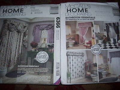 McCALL'S HOME PATTERNS - BATHROOM-SHOWER ESSENTIALS - 2 TO CHOOSE FROM- $7.99 EA