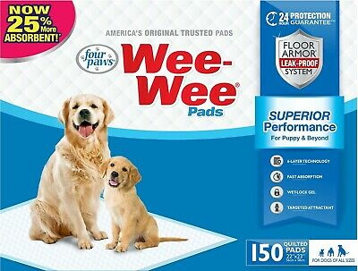 Four Paws 150pk Box 22x23 Wee Wee Pads