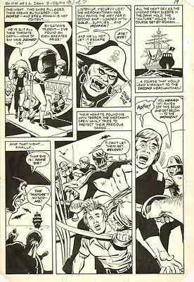 Secrets of Haunted House 32 ORIGINAL ART VAMPIRE PIRATE PAGE 1980 JACK SPARLING