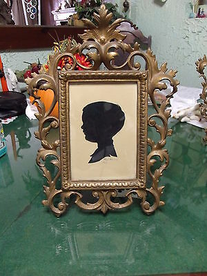 1965 Silhouette by Nationally Known Artist Kaye Housel, Heavy Brass Frame