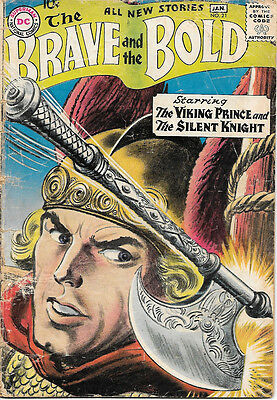 The Brave and the Bold Comic Book #21, DC Viking Prince 1959 FAIR