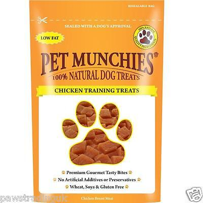 100% Natural Chicken Dog Training Treats - Pet Munchies - Great Value