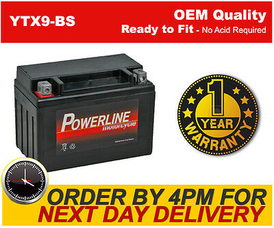 GENUINE YTX9-BS MOTORCYCLE BATTERY - **BRAND NEW** 8Ah 12V