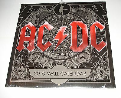 Ac/dc / Official Wall Calendar 2010 Black Ice - New & Sealed!!!