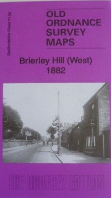 Old Ordnance Survey Maps Brierley Hill (West) Staffordshire 1882 Godfrey Edition