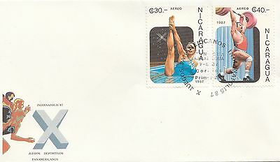 (49227) CLEARANCE Nicaragua FDC Pan American Games 7 August 1987