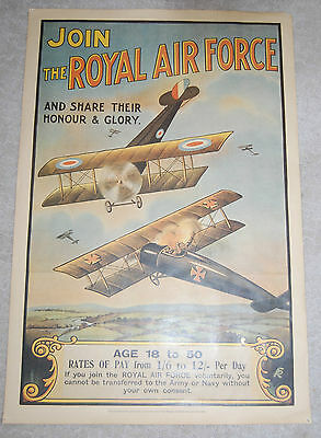 JOIN THE ROYAL AIR FORCE Poster Reproduced Imperial War Museum