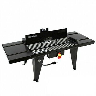 Aluminum Router Table Benchtop Stationary Woodworking Stand Worktop Carpenter