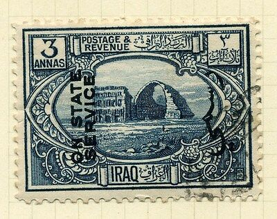 IRAQ;  1924 early State Service issue fine used 3a. value