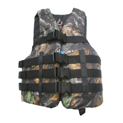 Life Jacket Vest Adult PFD Type III Fully Enclosed US Coast Guard Approved CAMO