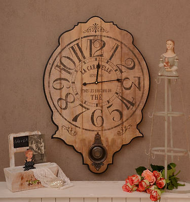 Historical Clock Wall Clock In Country House Style Shabby Chic Look
