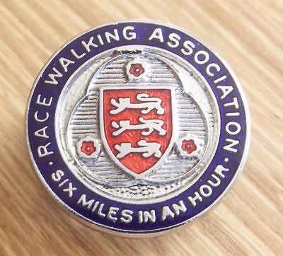 Vintage Race Walking Association Enamel Lapel Badge