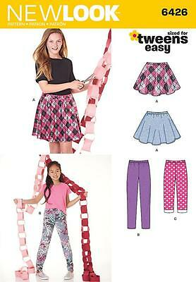 New Look Sewing Pattern Tweens Easy Skirt And Leggings  Sizes 8 - 16  6426