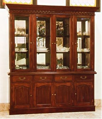 englische chippendale vitrine schrank mahagoni eur 798 00 picclick de. Black Bedroom Furniture Sets. Home Design Ideas