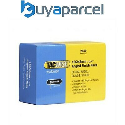 Tacwise 0771 Pack of 2500 x 16 Gauge Angled Nails 45mm