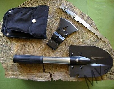 MIL-COM ALL IN ONE TOOL – entrenching tool shovel hatchet saw camping survival