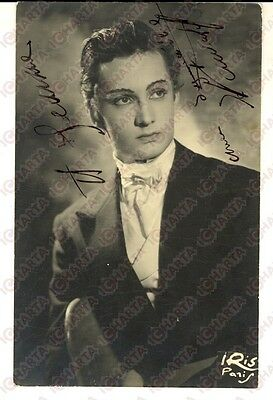 1960 ca CINEMA FRANCE Portrait d'acteur maquillé *Photo avec AUTOGRAPHE 9x14