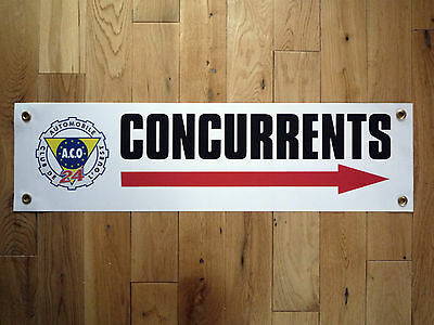 LEMANS ACO CONCURRENTS Weatherproof Rally Art Banner Workshop Garage Sign 24hr