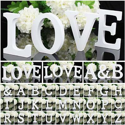 New Wooden 26 Letters Alphabet Wall Hanging Wedding Party Home Shop Decoration