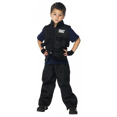 SWAT Costume Kids Police Cop Halloween Fancy Dress