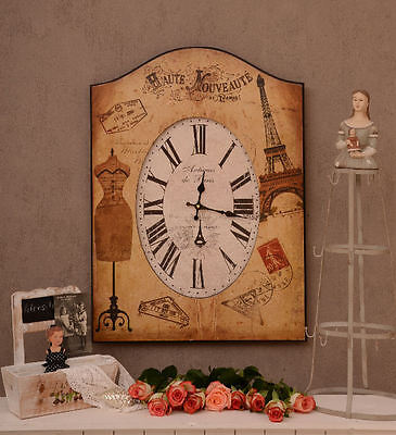 French Salon Clock Wall Clock im Vintage Style Belle Epoque